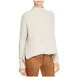 Free People High Low Zip Back Sweater